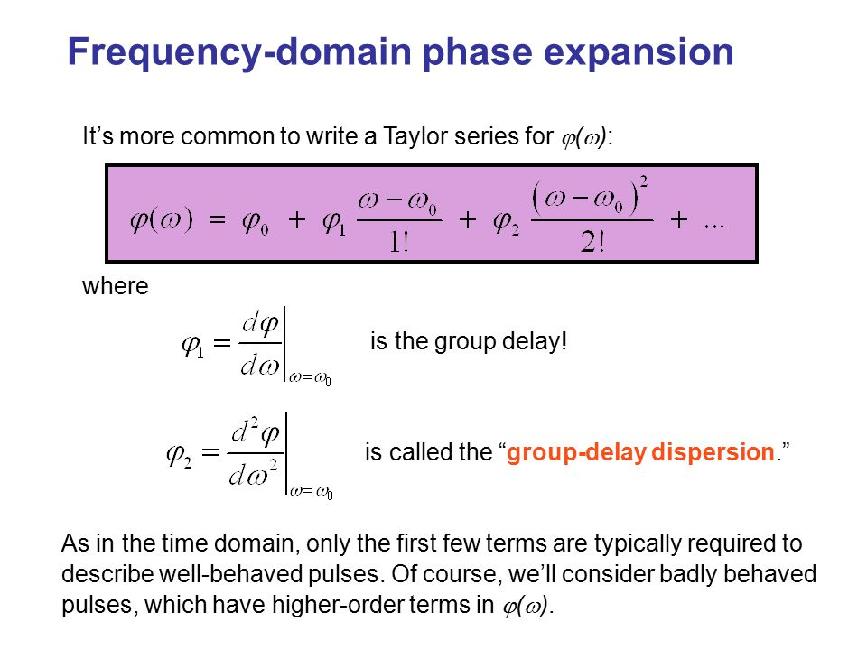 Frequency-domain phase expansion