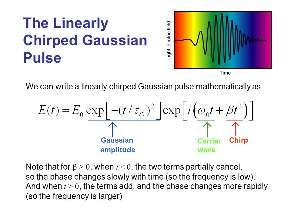 The Linearly Chirped Gaussian Pulse