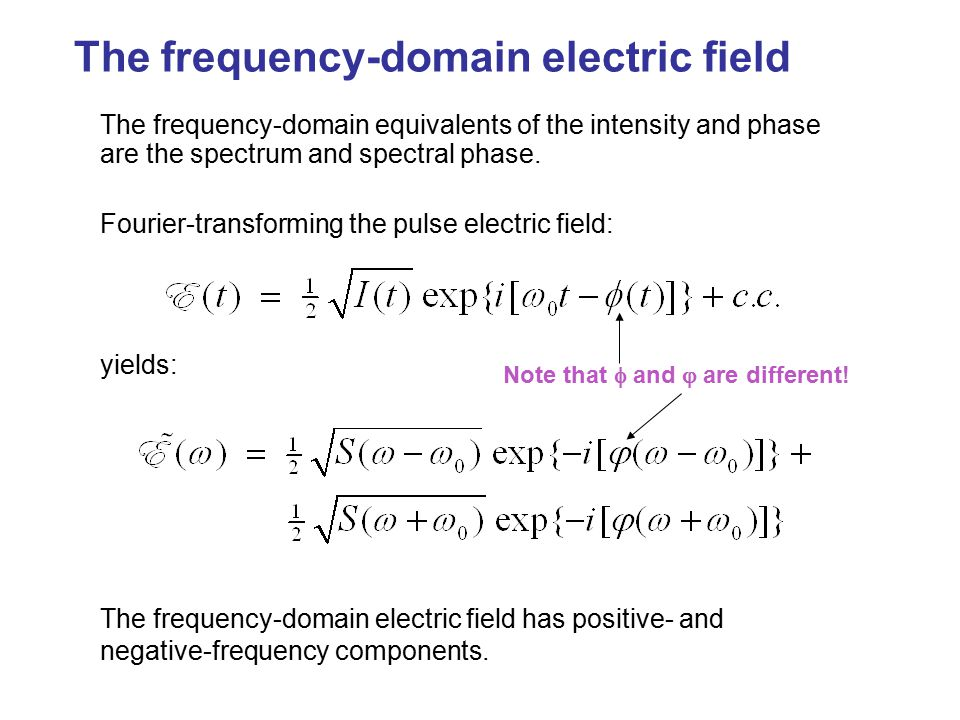 The frequency-domain electric field