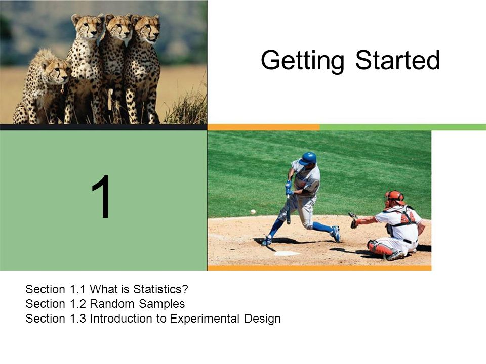 Getting Started 1. Section 1.1 What is Statistics.