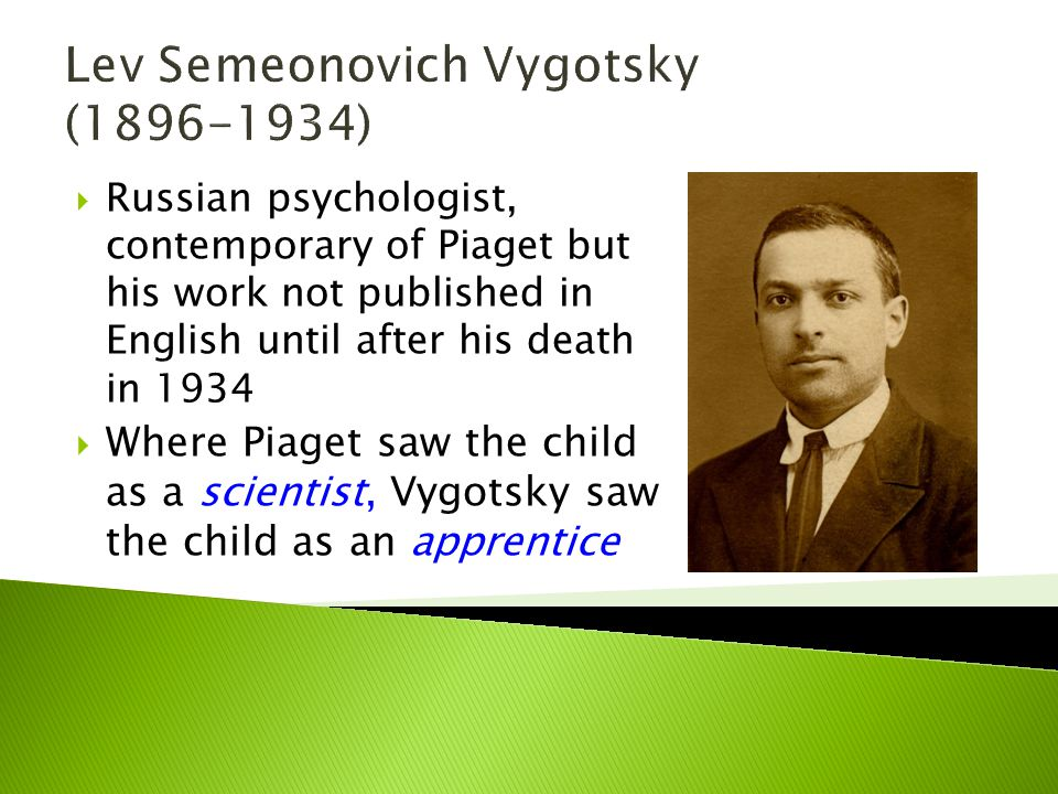 Lev Semeonovich Vygotsky (1896-1934)