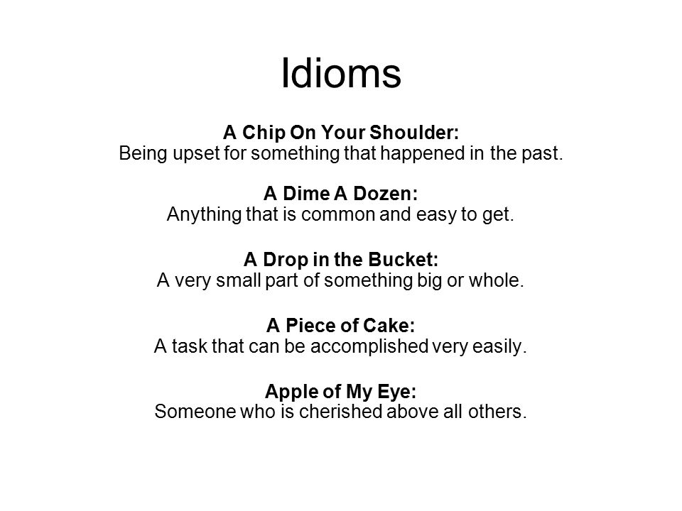 Everything But The Kitchen Sink Idiom idioms a chip on your shoulder: being upset for something that
