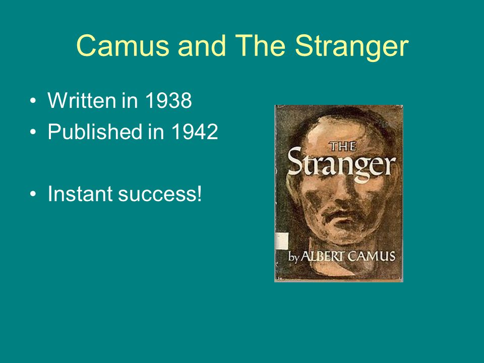 Camus and The Stranger Written in 1938 Published in 1942