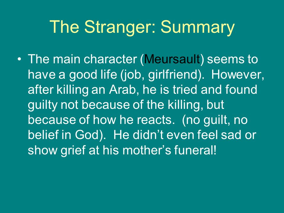 The Stranger: Summary