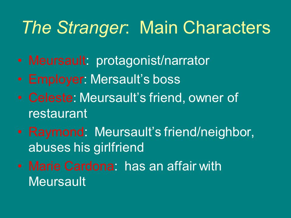 The Stranger: Main Characters