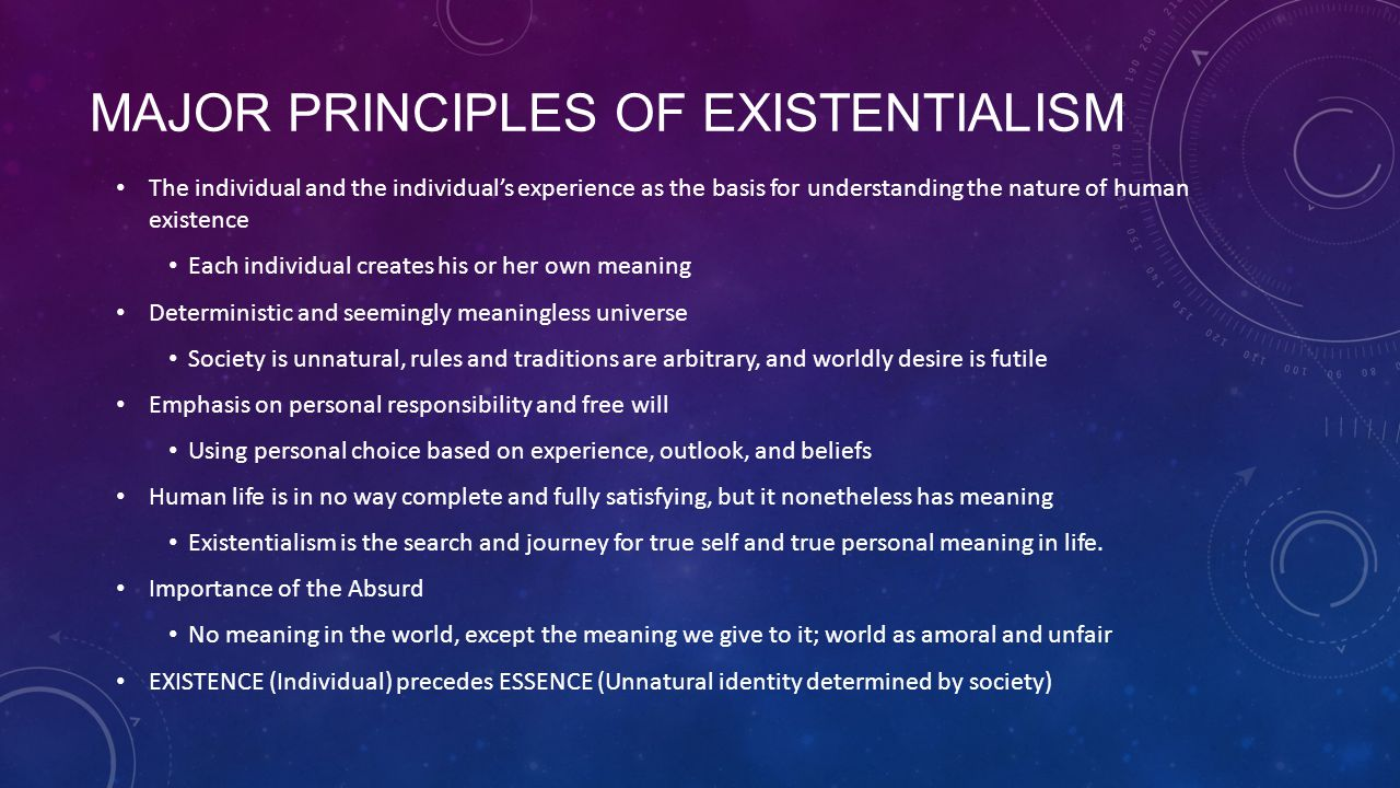 relationship between existentialism absurdism and nihilismus