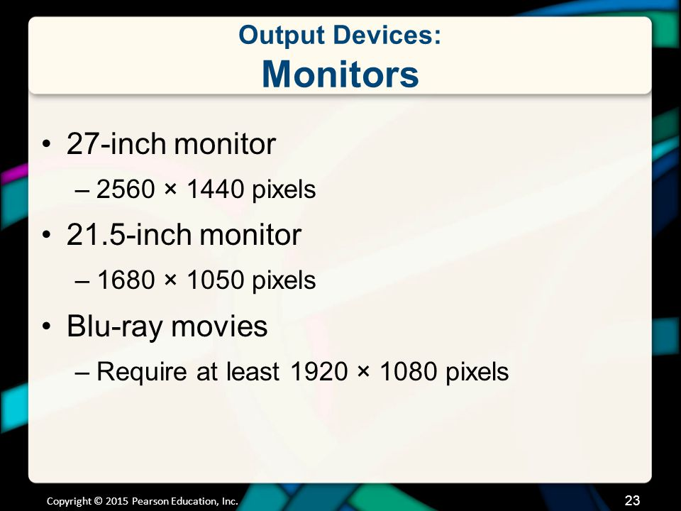 Output Devices: Monitors