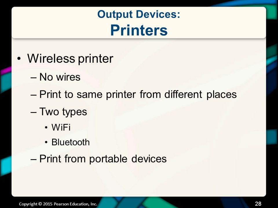 Output Devices: Printers