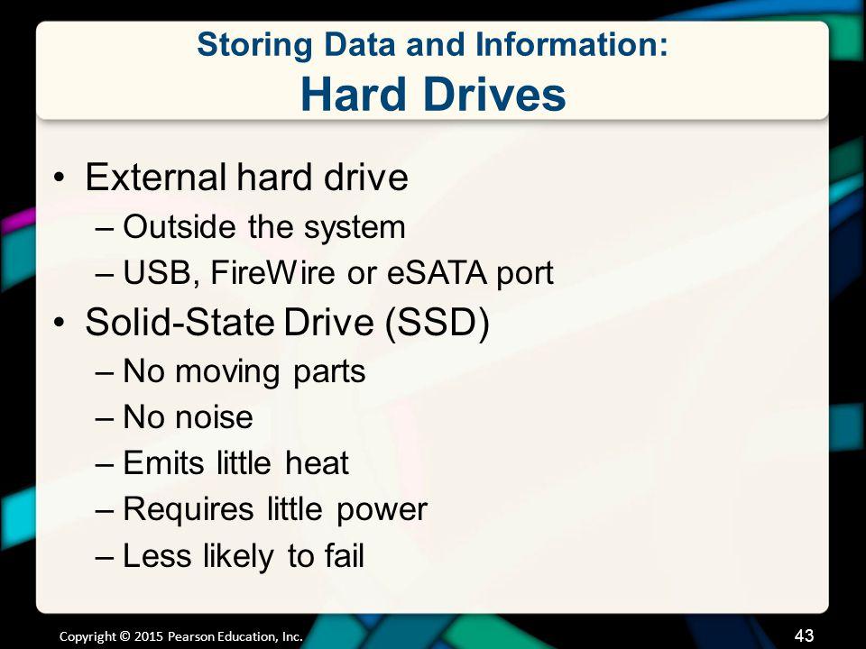Storing Data and Information: Hard Drives