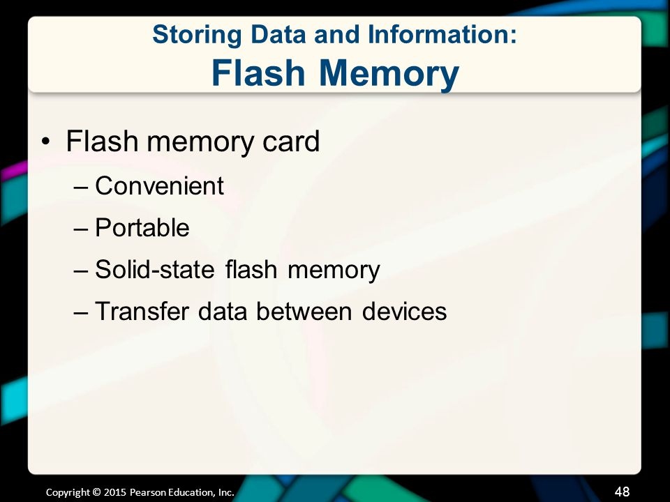Storing Data and Information: Optical Storage