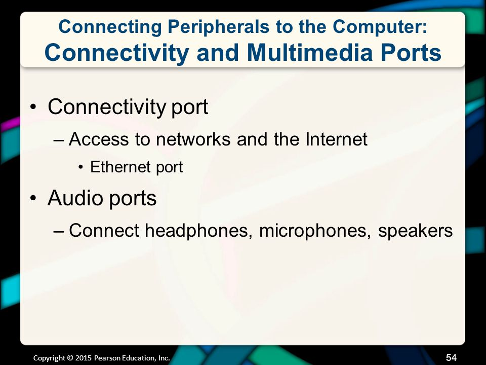 Connecting Peripherals to the Computer: Connectivity and Multimedia Ports