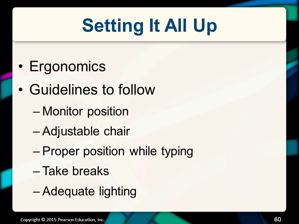 Setting It All Up Mobile computing and injury prevention