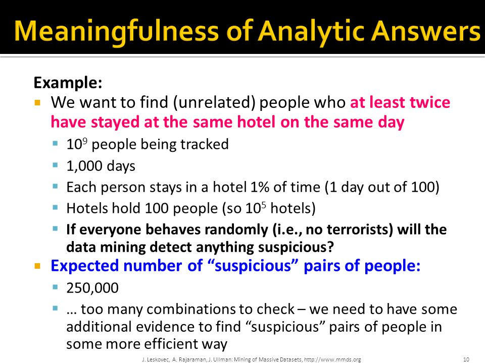 Meaningfulness of Analytic Answers