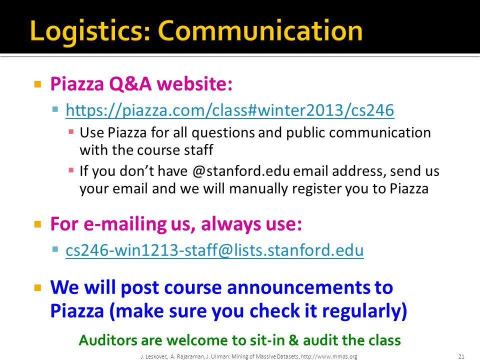 Logistics: Communication