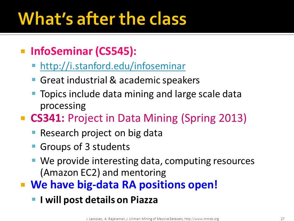 What's after the class InfoSeminar (CS545):