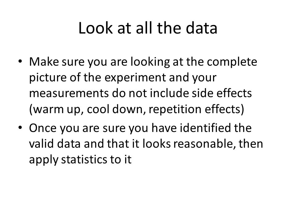 Look at all the data