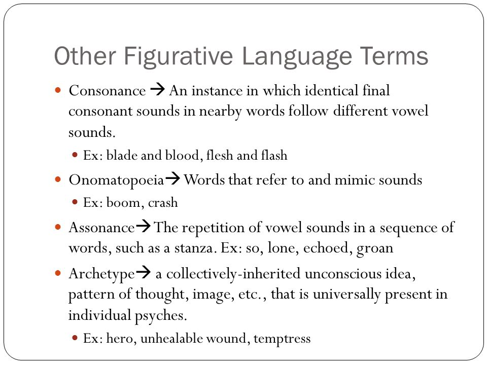 Other Figurative Language Terms