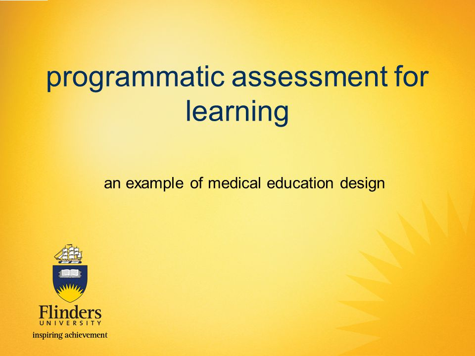 programmatic assessment for learning