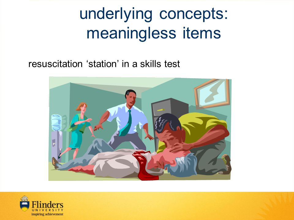 underlying concepts: meaningless items