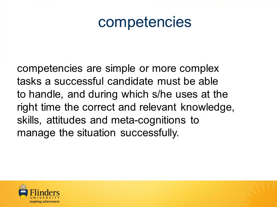 competencies competencies are simple or more complex