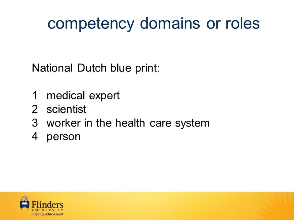 competency domains or roles