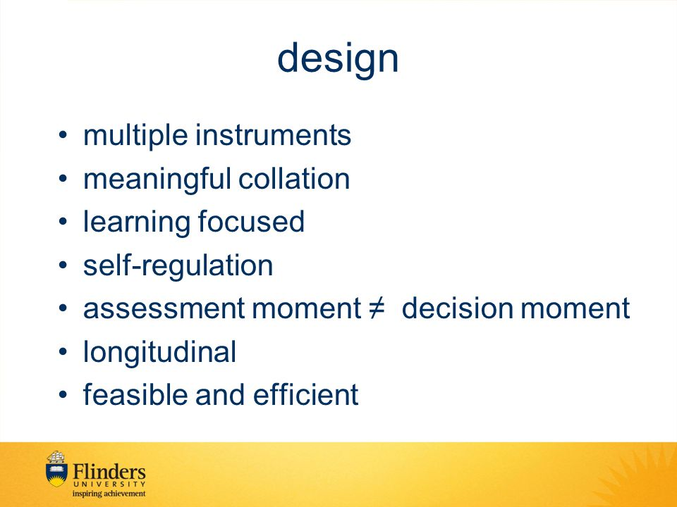 design multiple instruments meaningful collation learning focused
