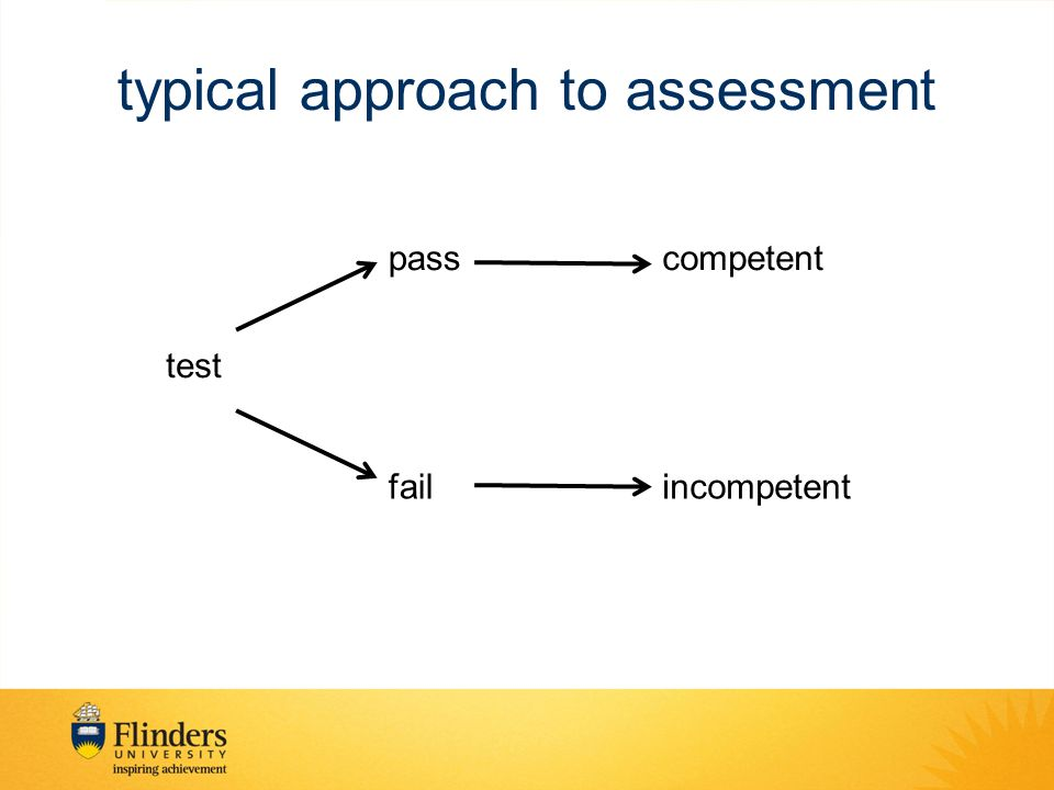 typical approach to assessment