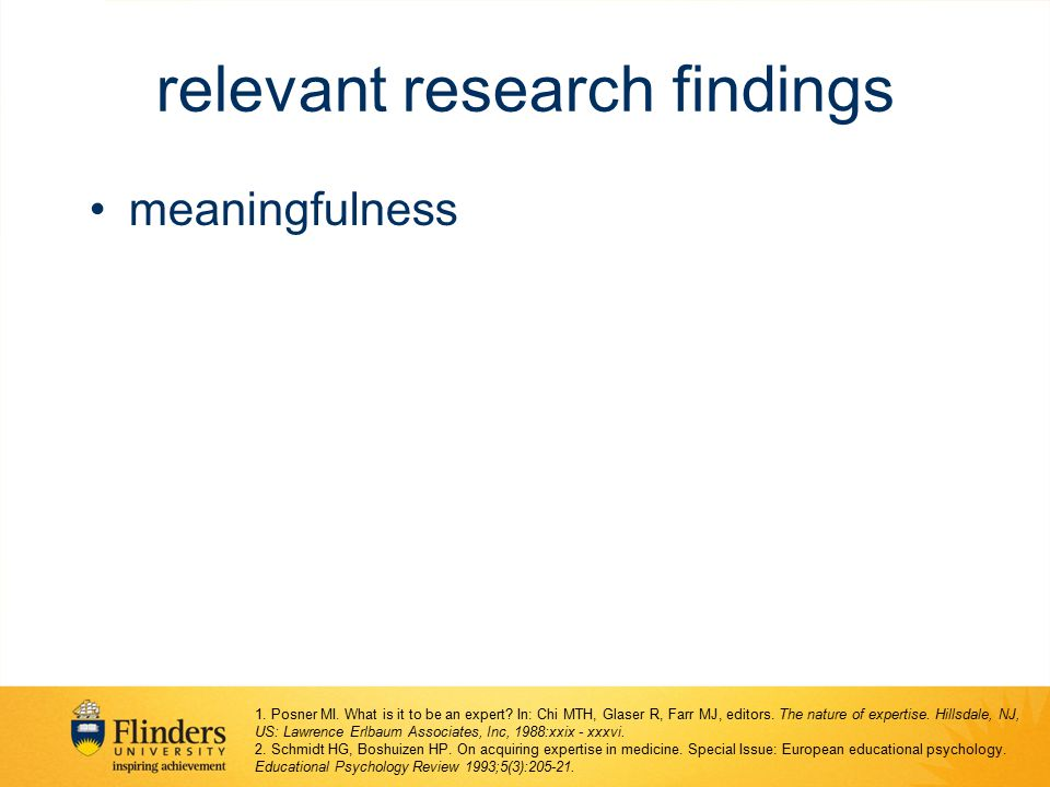 relevant research findings