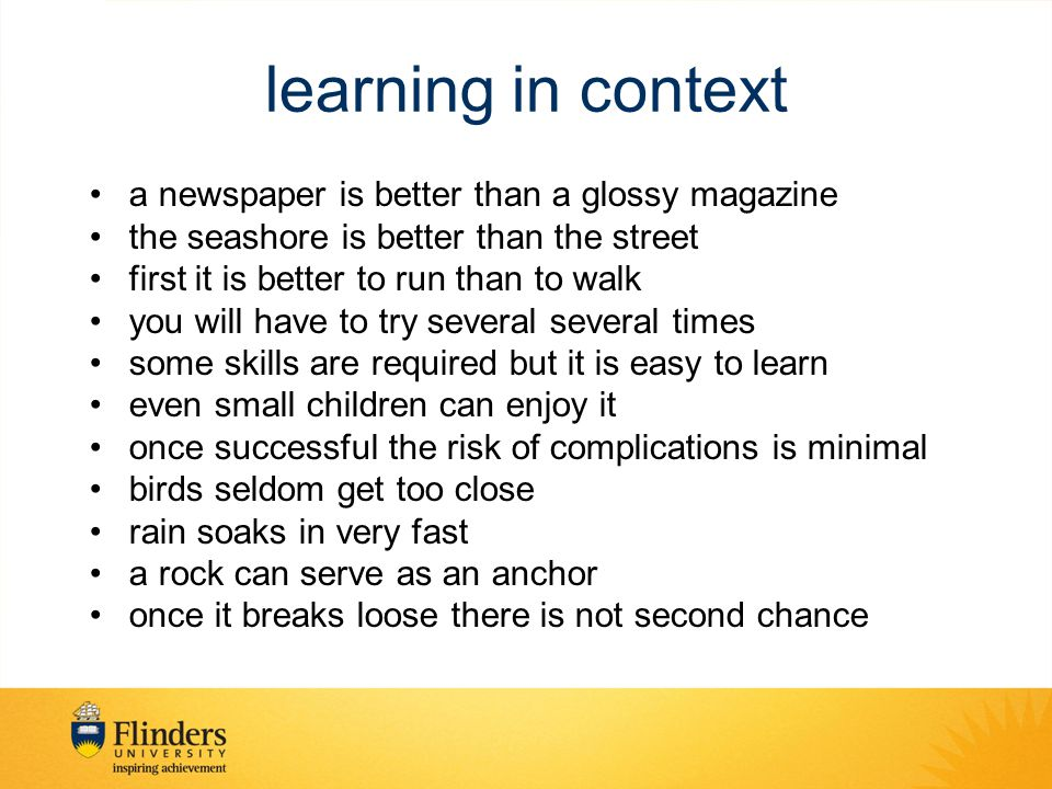 learning in context a newspaper is better than a glossy magazine
