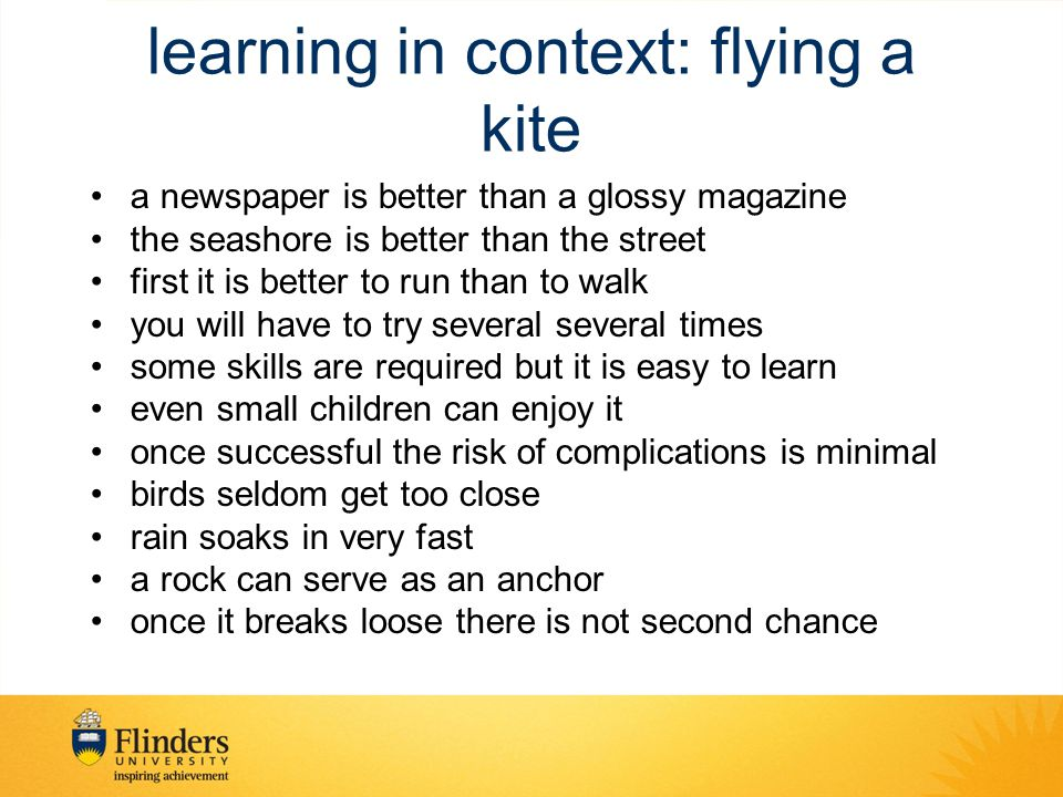 learning in context: flying a kite