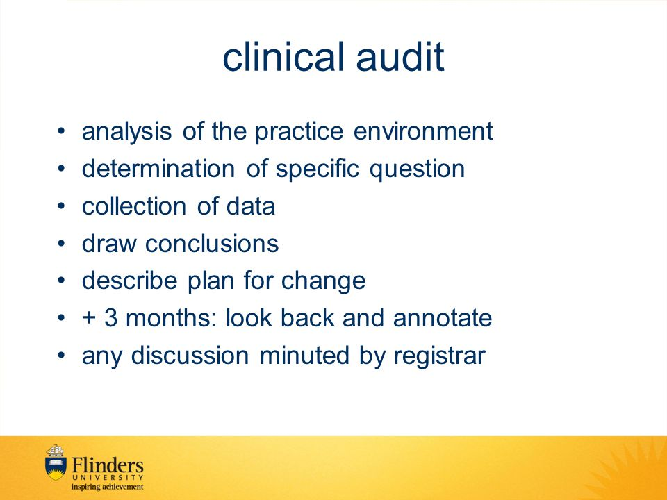 clinical audit analysis of the practice environment