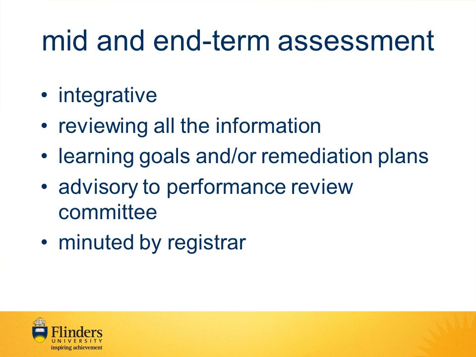 mid and end-term assessment