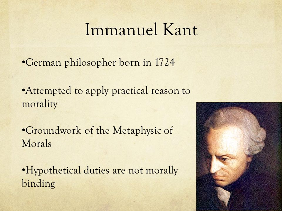 Immanuel Kant German philosopher born in 1724