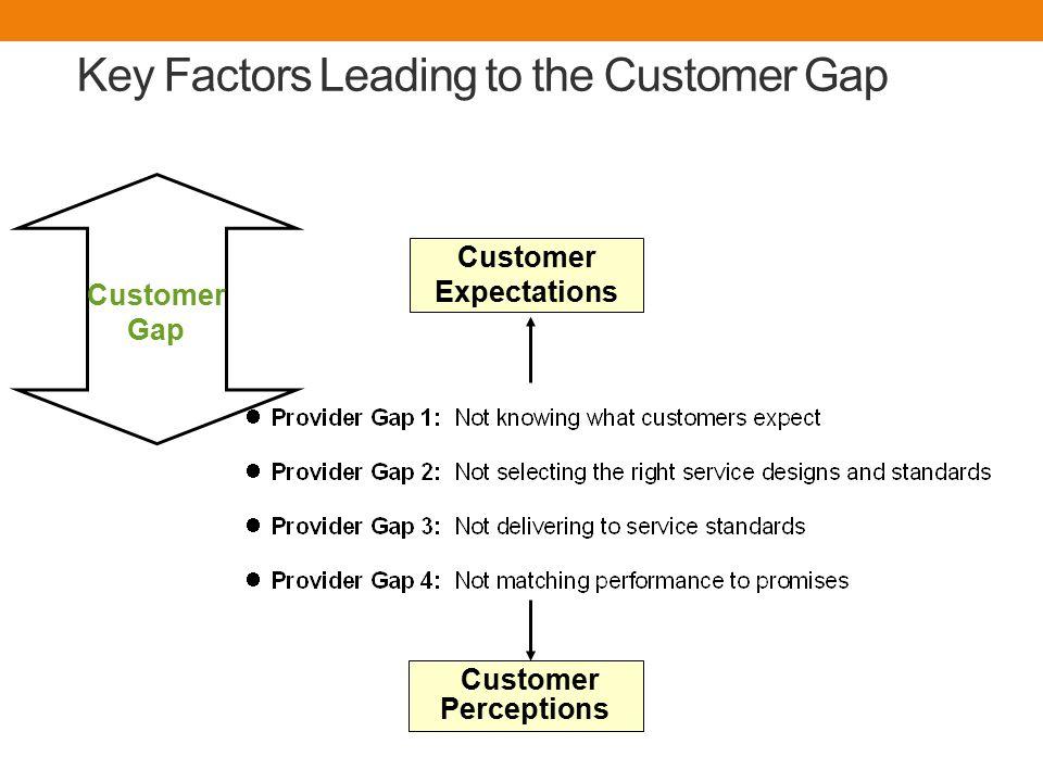 Key Factors Leading to the Customer Gap