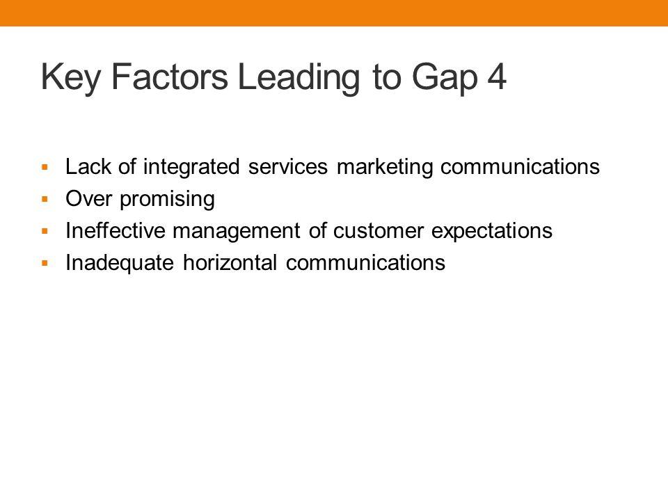 Key Factors Leading to Gap 4