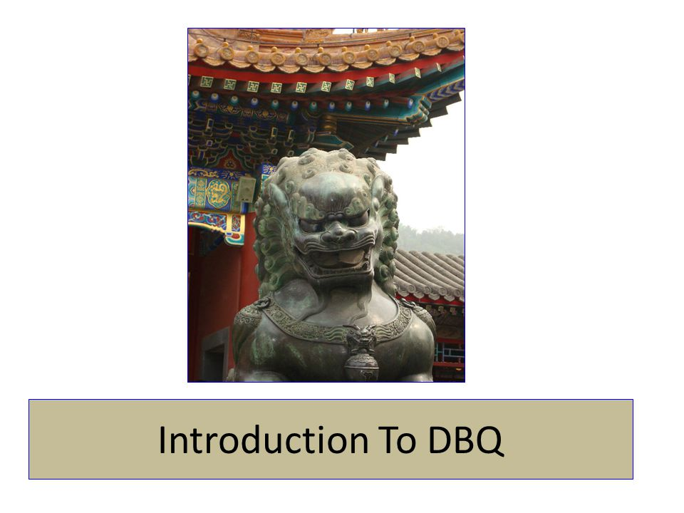 Introduction To DBQ