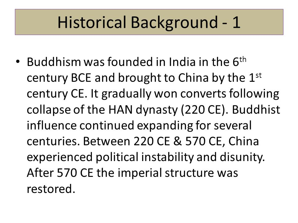 Historical Background - 1
