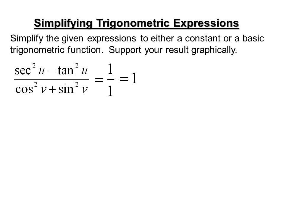 Simplifying Trigonometric Expressions