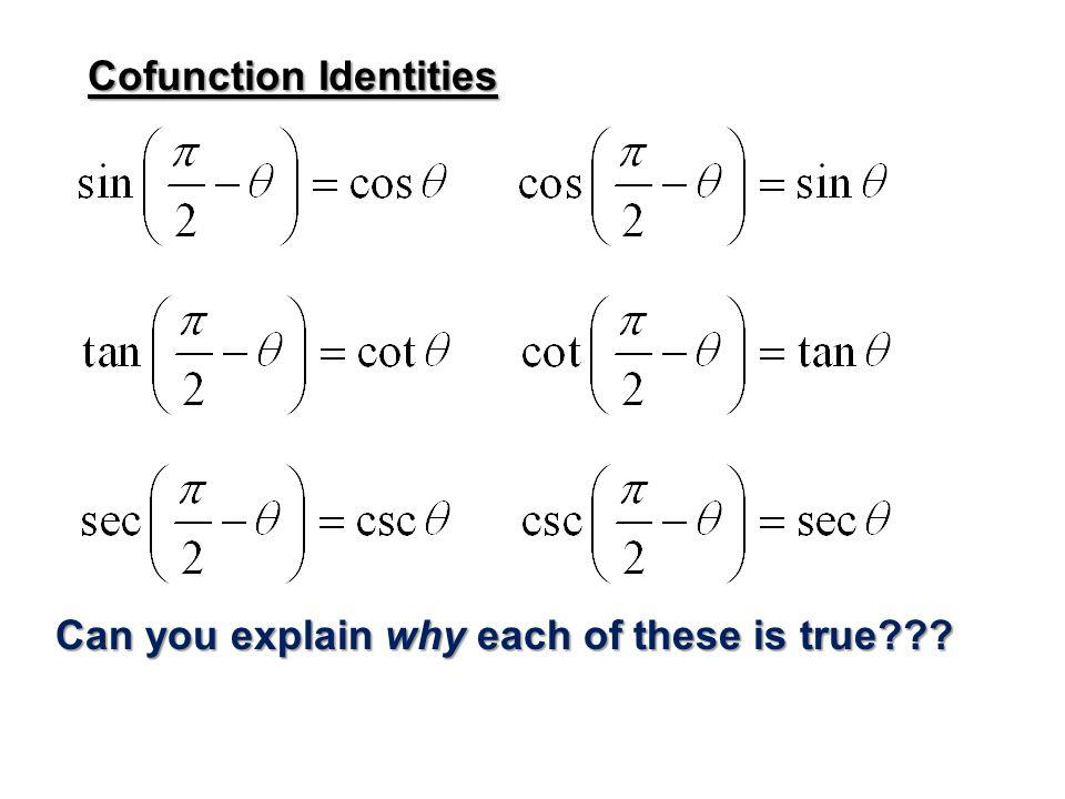 Cofunction Identities