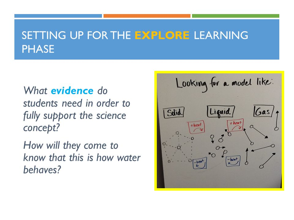 Setting up for the Explore learning phase