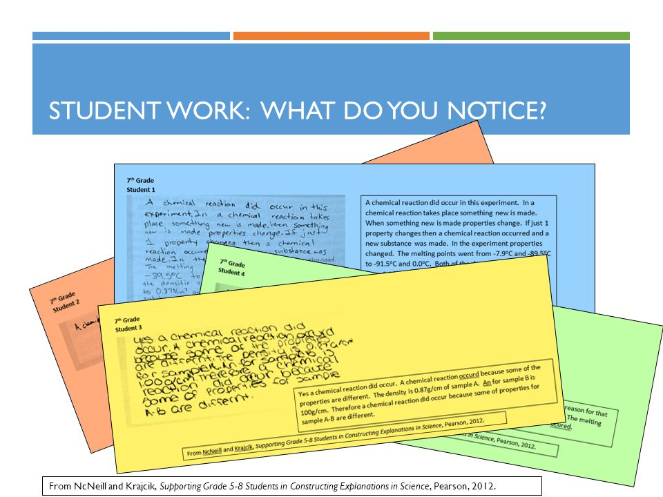 Student Work: What do you notice