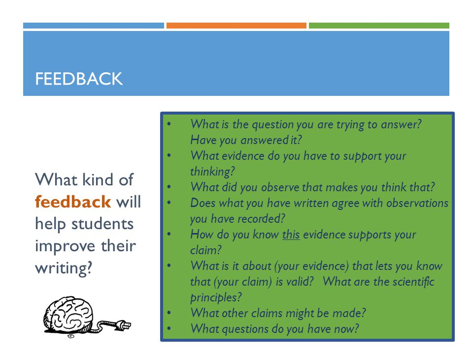 What kind of feedback will help students improve their writing