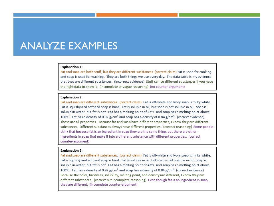 Analyze Examples