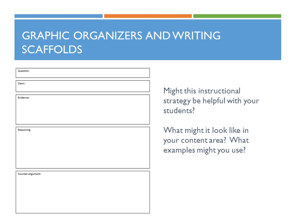 Graphic Organizers and Writing Scaffolds