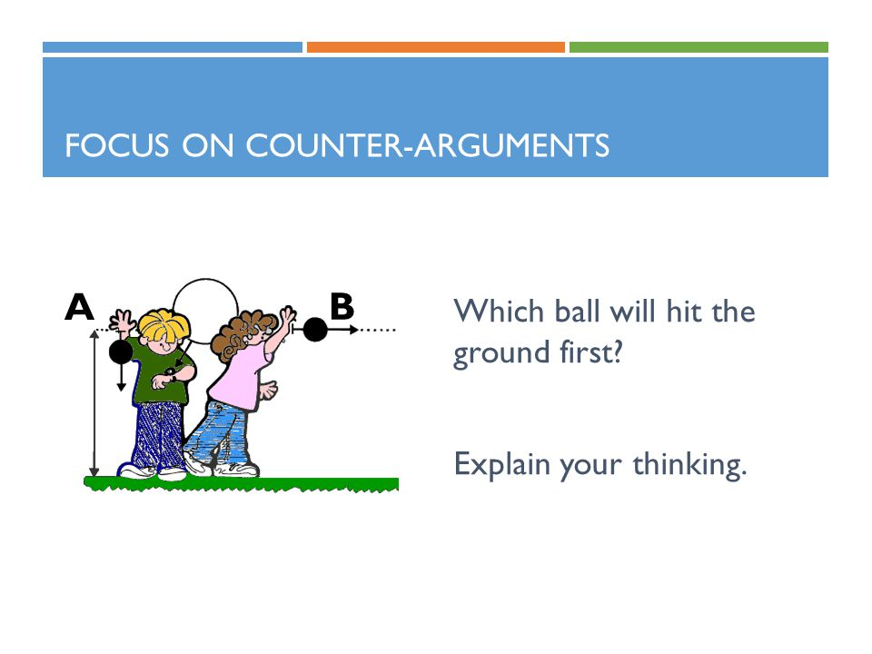 Focus on Counter-arguments