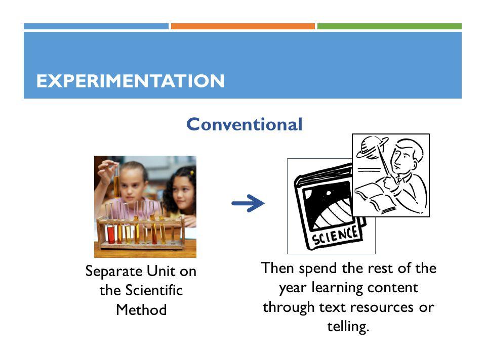 Separate Unit on the Scientific Method