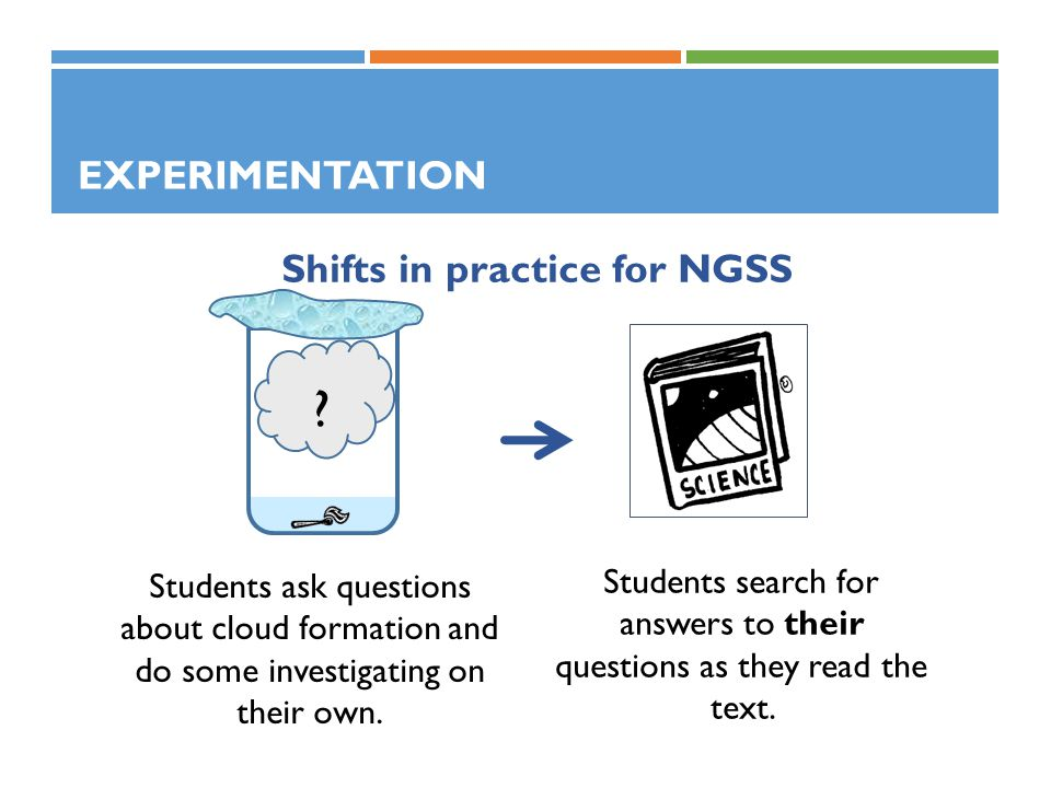 Shifts in practice for NGSS