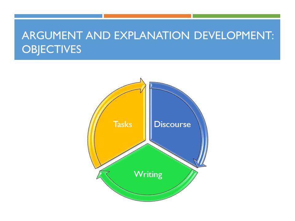 Argument and Explanation Development: Objectives