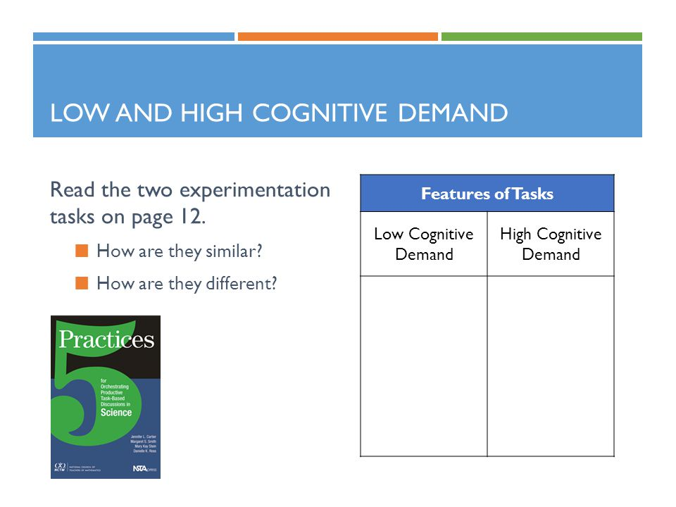Low and High Cognitive Demand