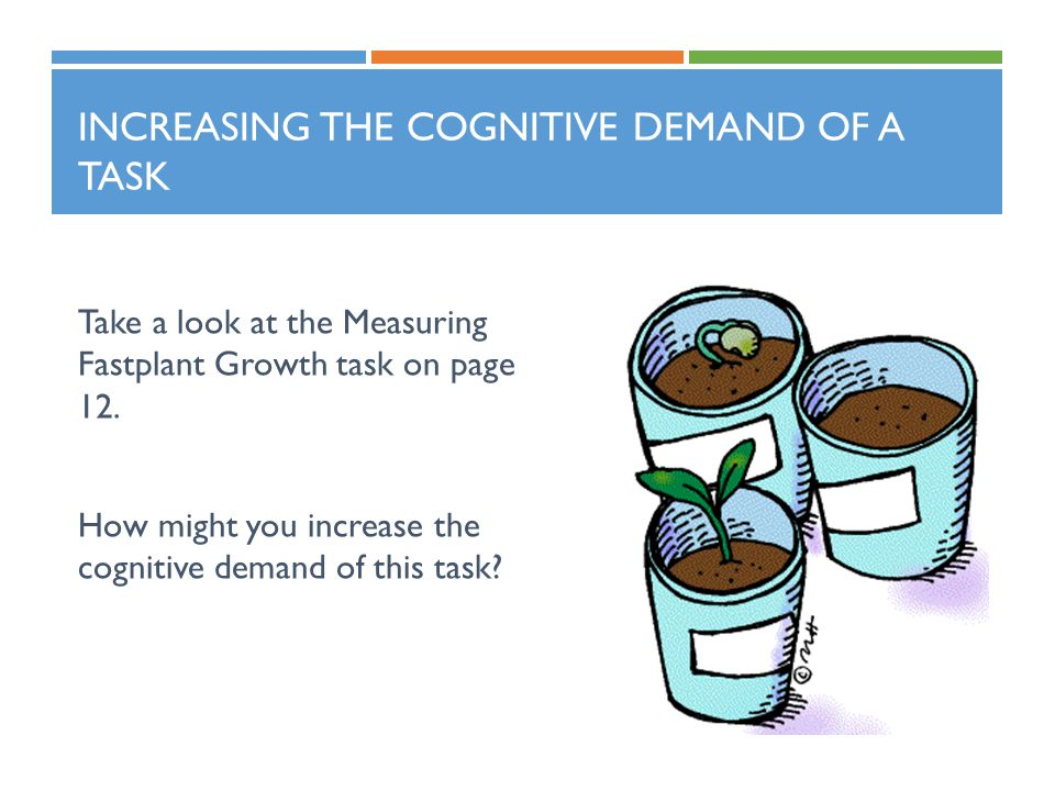 Increasing the Cognitive Demand of a Task
